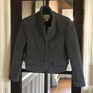 EXPRESS Gray Soft, light, fleece jacket/blazer
